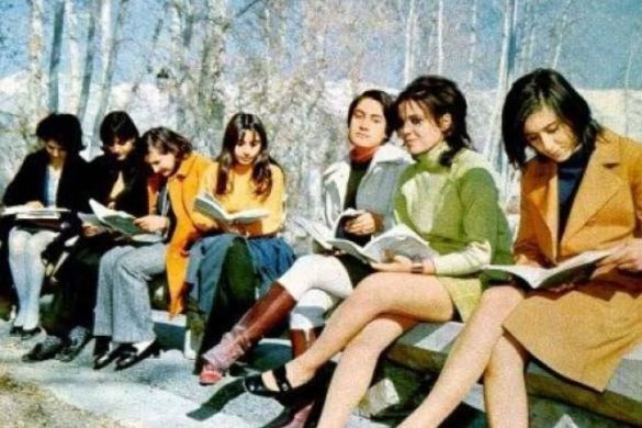 Iranian women before the Islamic Revolution (1970s).
