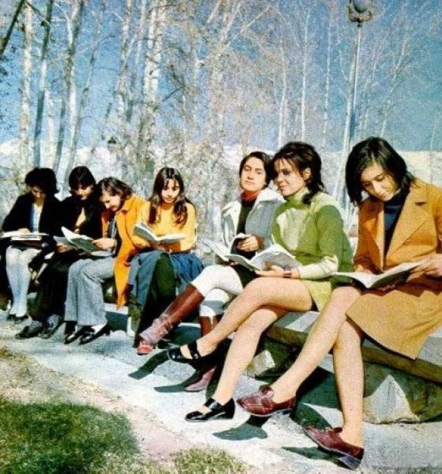 Iranian women before the Islamic Revolution (1970s).