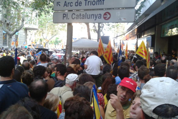 September 11, 2012 Demonstration in Catalonia. Photo by Ferran Masip-Valls.