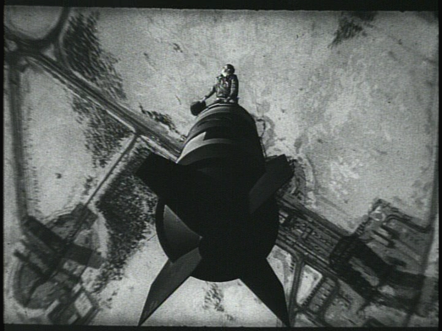 "Major T. J. ""King"" Kong (Slim Pickins) riding the bomb in Stanley Kubrick's 1964 film, Dr. Strangelove."