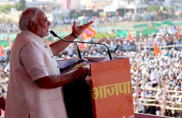 Shri Narendra Modi addressed the 'Jana Chetna Rally' at Wardha in Maharashtra: Photo Courtesy of Flickr Creative Commons