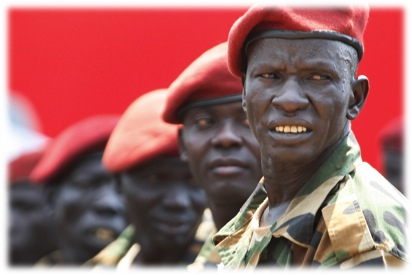 SOUTH SUDANESE SOLDIERS  (Photo Credit: Steve Evans via Creative Commons)
