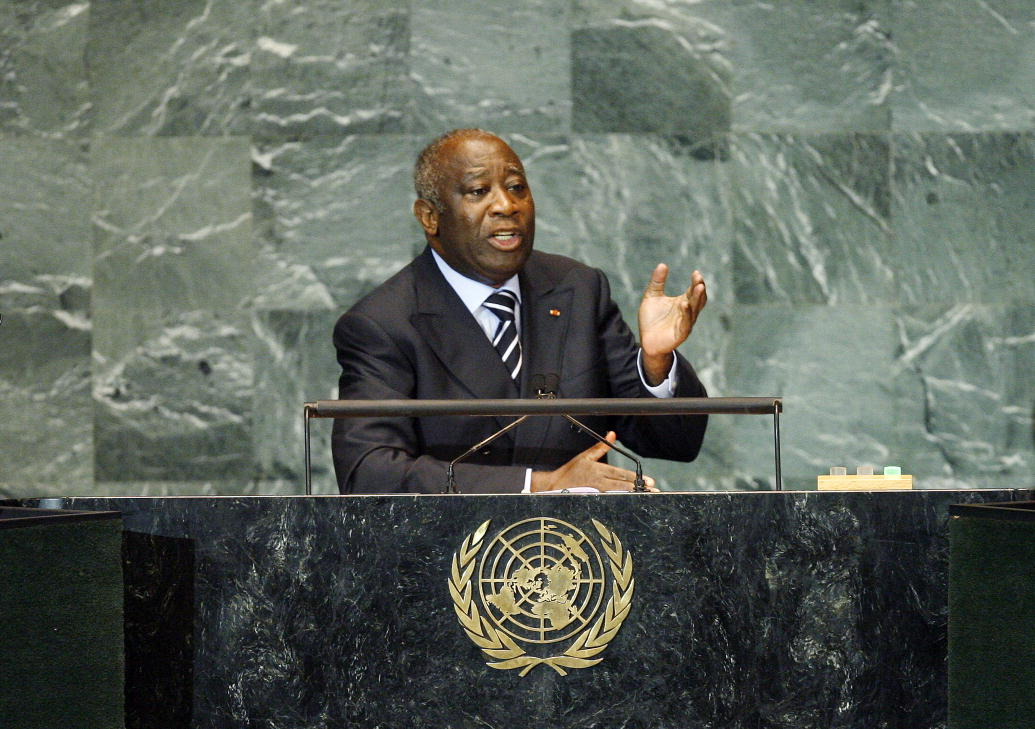 Laurent Gbagbo, President of Côte d'Ivoire, addresses the general debate of the sixty-fourth session of the General Assembly. 25/Sep/2009. United Nations, New York. UN Photo/Marco Castro. www.unmultimedia.org/photo/ - United Nations Photo, Flickr (CC).
