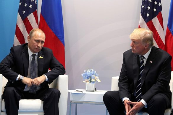 Russian President Vladimir Putin and US President Donald Trump at 2017 G20 Summit in Hamburg, Germany