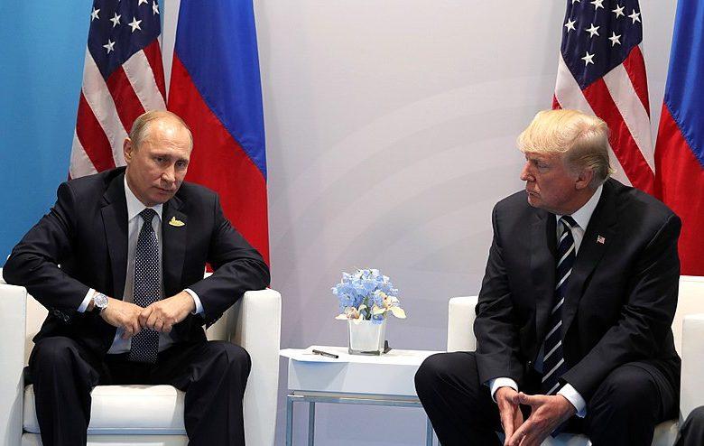Russian President Vladimir Putin and US President Donald Trump at 2017 G20 Summit in Hamburg, Germany