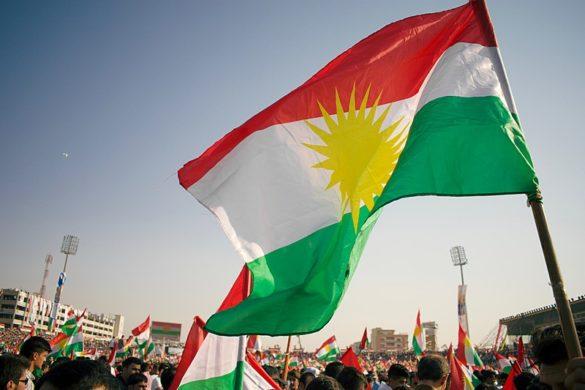 Kurdistan Referendum and Independence Rally at Franso Hariri Stadium in Erbil Kurdistan Region of Iraq