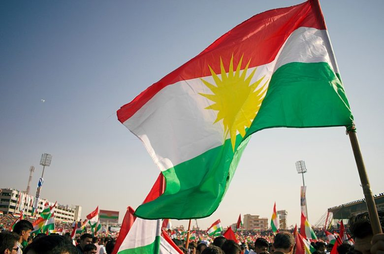 Kurdistan Referendum and Independence Rally at Franso Hariri Stadium in Erbil Kurdistan Region of Iraq